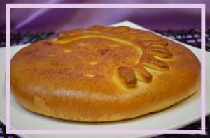 Пирог закрытый с начинкой (капуста, творог)