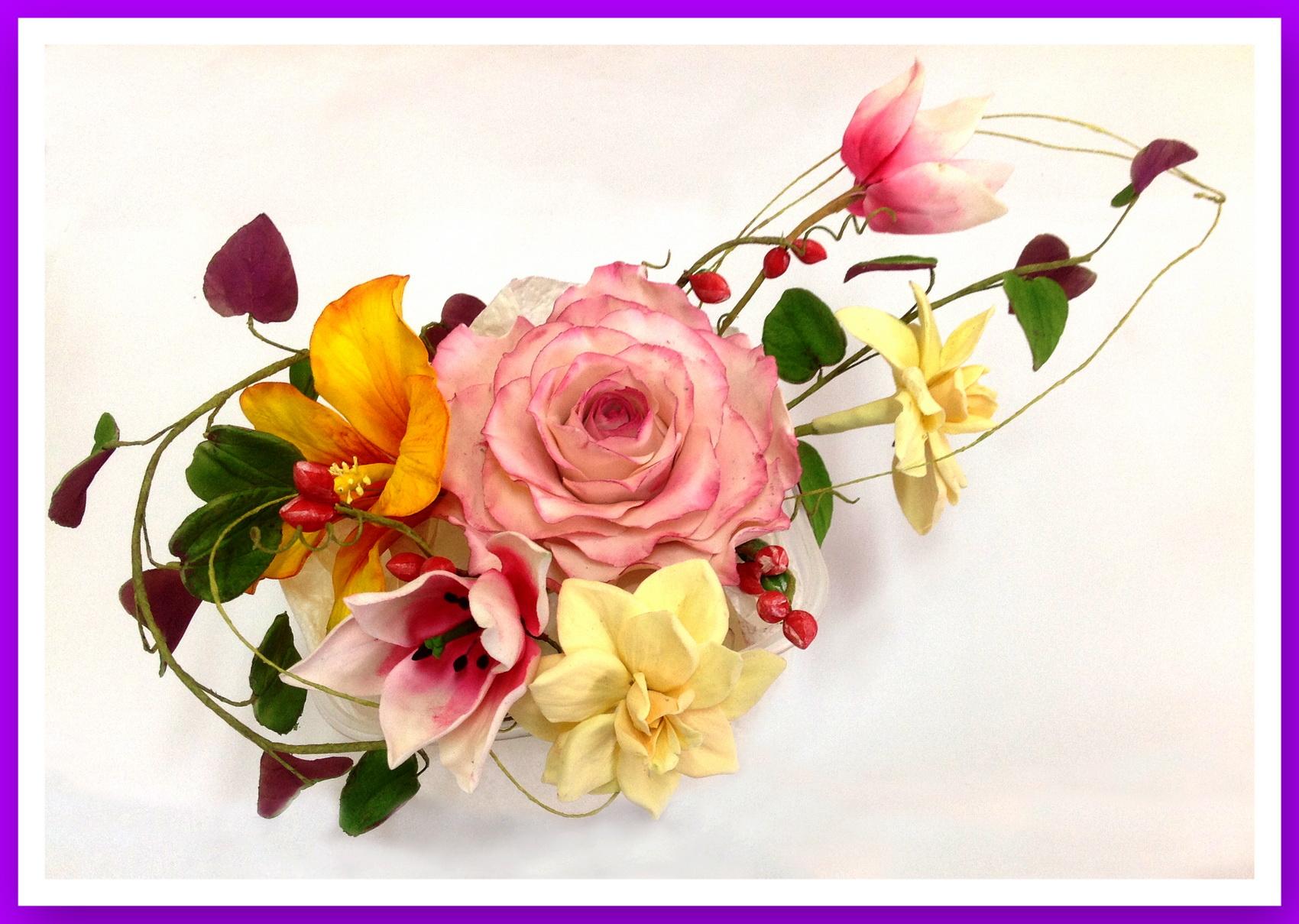 Фото цветов из мастики 93